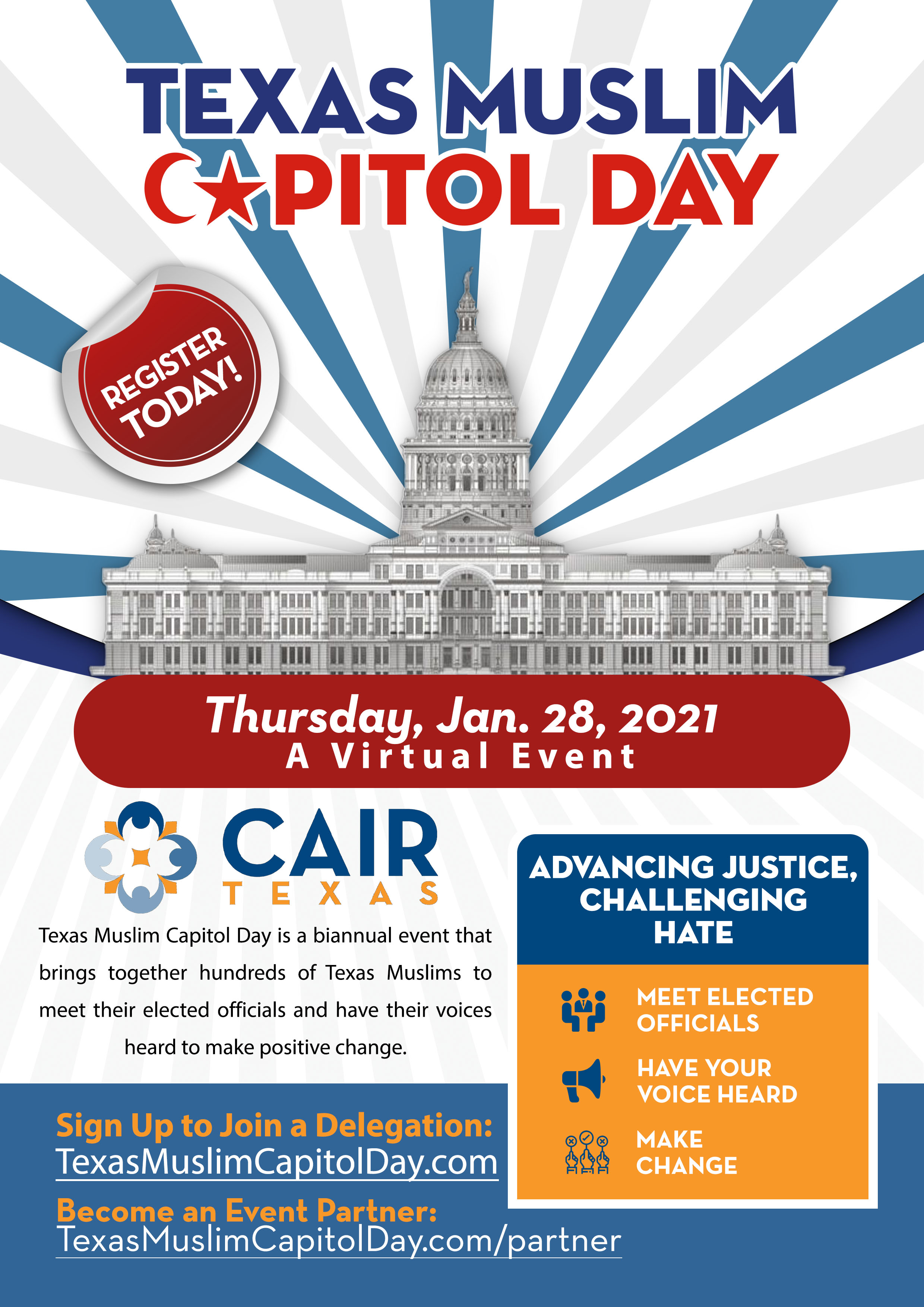 Texas Muslim Capitol Day Flyer CAIR Texas